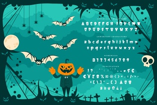 Thumbnail for Monster Squad - Fun Halloween Typeface