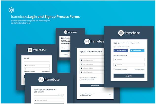 Bootstrap Login Registration Form By Egotype On Envato Elements