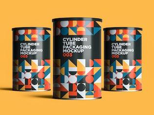 Thumbnail für Zylinderrohr Verpackung Mockup 003