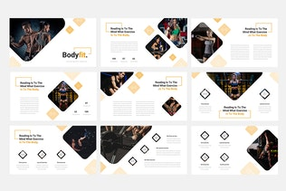 Thumbnail for Bodyfit - Fitness Keynote Presentation Template