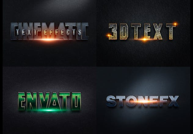 3D Text Effects col4 - product preview 1