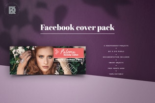 Thumbnail for Beauty Salon Facebook Cover Pack