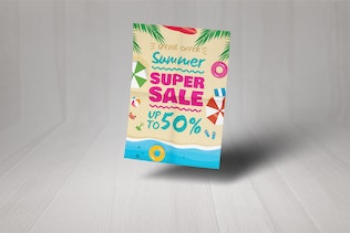 Thumbnail for Summer Beach Super Sale Poster And Flyer