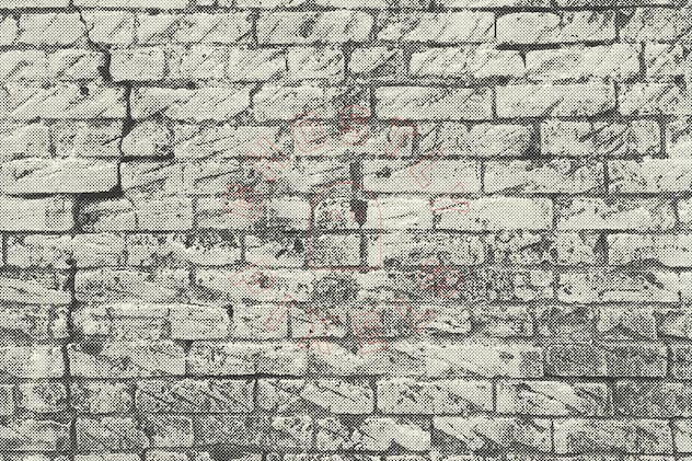 Halftone Brick & Stone Wall Textures - product preview 6