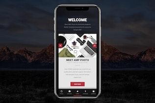 Thumbnail for AMP Photo Mobile | Google AMP Mobile News Template