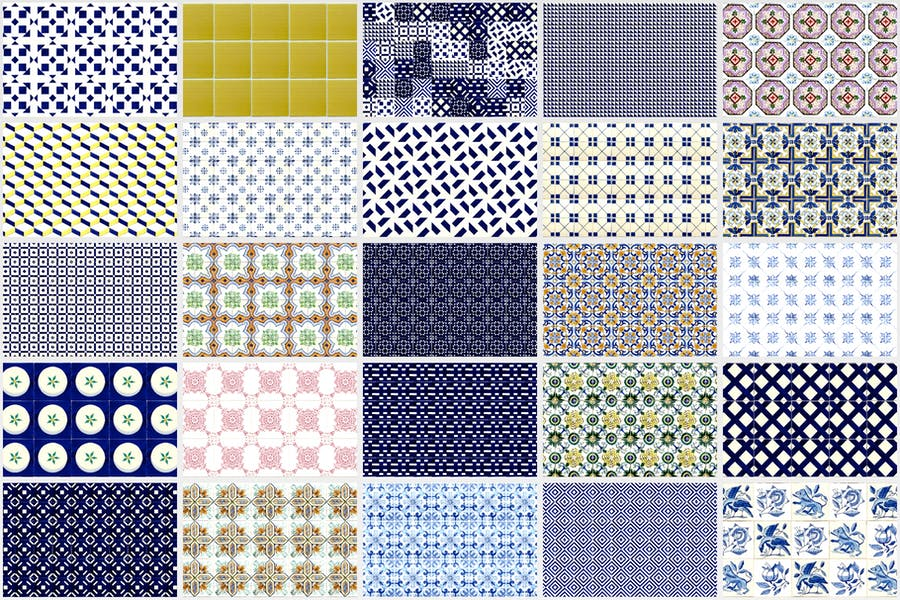 200 Seamless Portugal Azulejo Tile Backgrounds - product preview 1