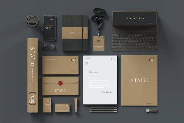 STATIO: Stationary Corporate Mockup Craft Edition