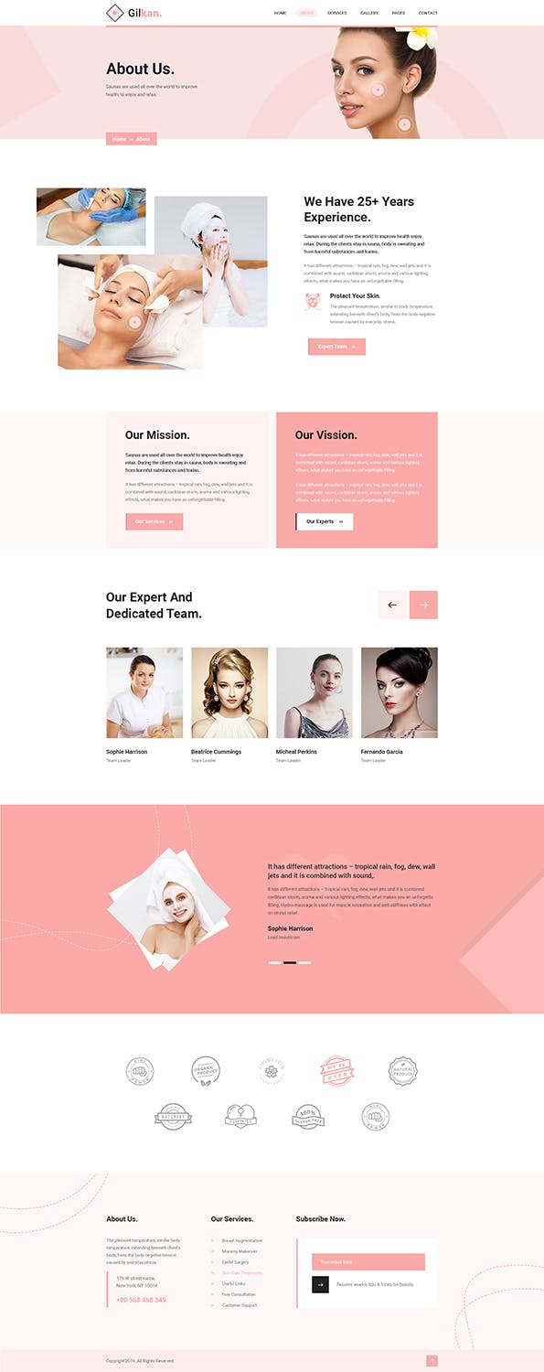 Gilkan - Dermatology and Skin Care HTML5 Template - product preview 4
