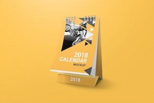 Thumbnail for a6 Desk Calendar Mockups