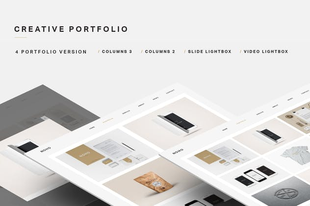 NOHO - Creative Agency Portfolio Muse Template - product preview 1