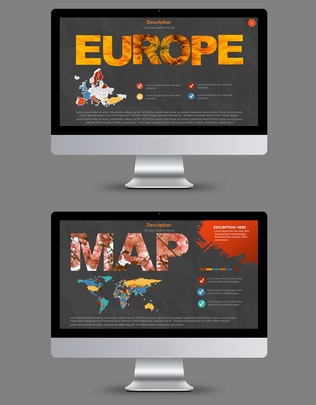 Thumbnail for Map Powerpoint Template