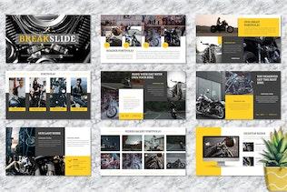 Thumbnail for Rider – Motorbike Service Googleslide Template