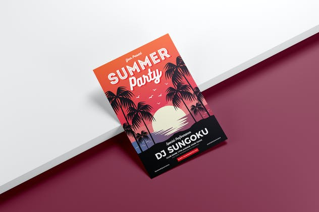 Summer Party Flyer Template Vol. 01 - product preview 1