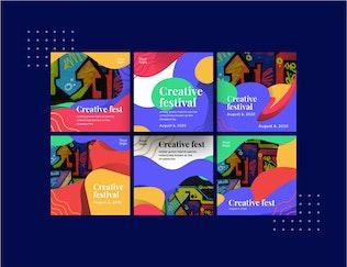 Thumbnail for Creative Festival Social Media Template