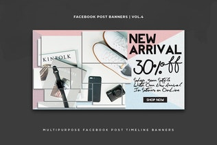 Thumbnail for Facebook Post Banners Vol. 4
