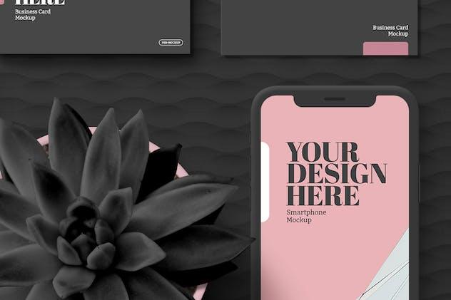Minimal Black Tablet, Smartphone Stationery Mockup