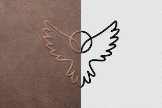 Thumbnail for Leather Stamp Logo Mockup