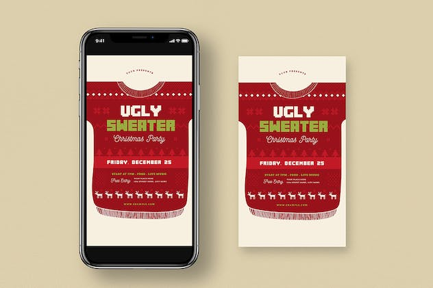 Ugly Sweater Christmas Party + Social Media - product preview 2