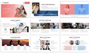 Amora - Dating Keynote Template