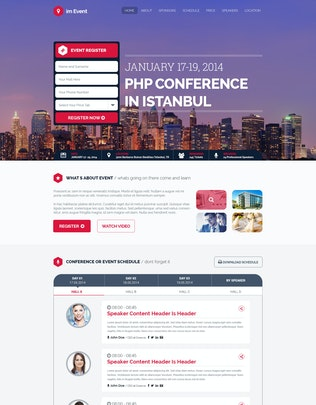 Thumbnail for im Event - Event Conference Landing Page