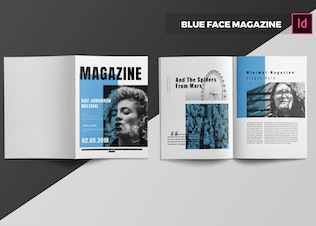 Thumbnail for Blue Face  Magazine Template