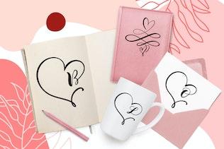 Miniatura para Monogram Heart Flourish Font