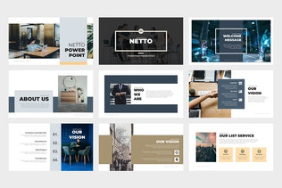 Netto : Architecture and Real Estate Google Slides