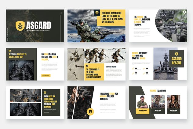 ASGARD - Military & Army Keynote Template - product preview 4