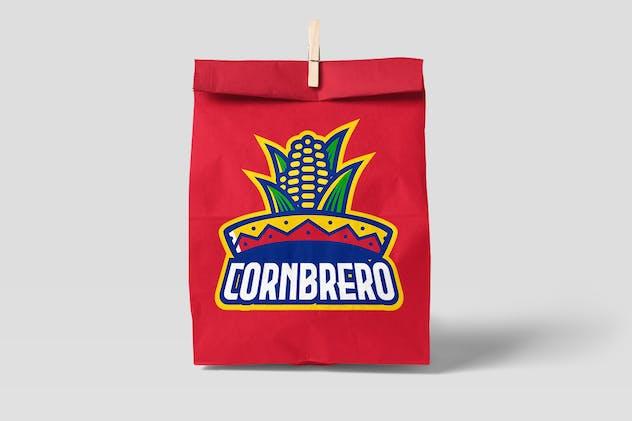 Corn Sombrero Hat Logo Sport Style