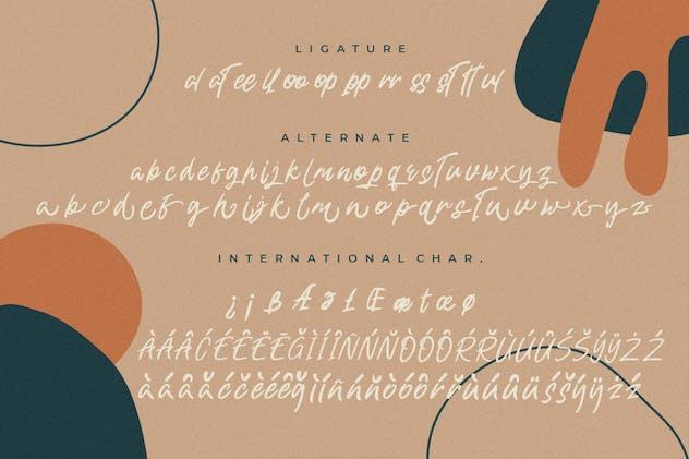 Shuttle Brand Casual Handwritten