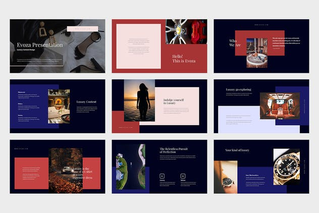 Evoza : Luxury Lifestyle Powerpoint - product preview 3
