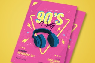 Thumbnail for 90'S Music Event Party Flyer