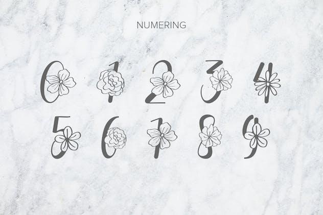 Flanela Monogram Font - product preview 5