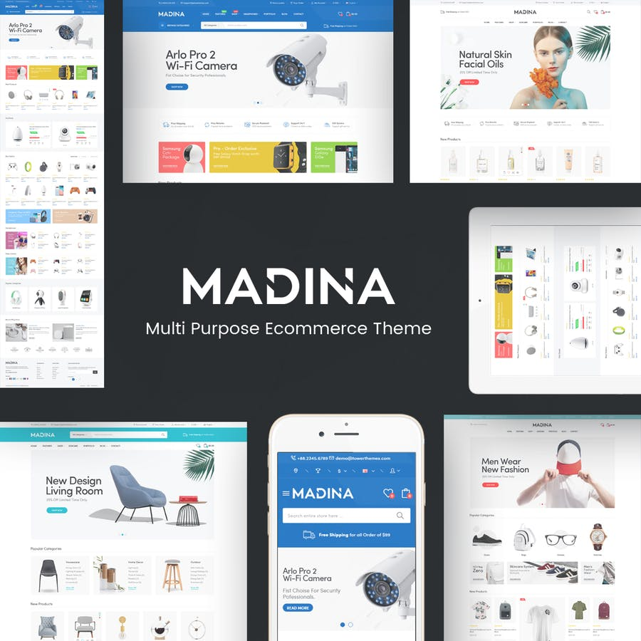 Madina - Multipurpose Responsive Prestshop Theme - product preview 1