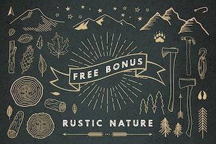 Miniatura para Fuente de enganche de madera + Elementos Naturaleza Bonus