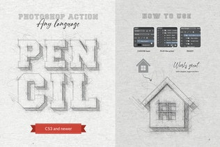 Thumbnail for Pencil Sketch - Photoshop Action