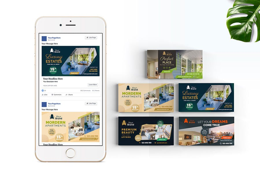 10 Social Media Banners - Real Estate - product preview 3
