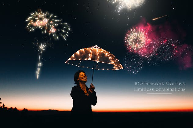 100 Firework Overlays - product preview 1