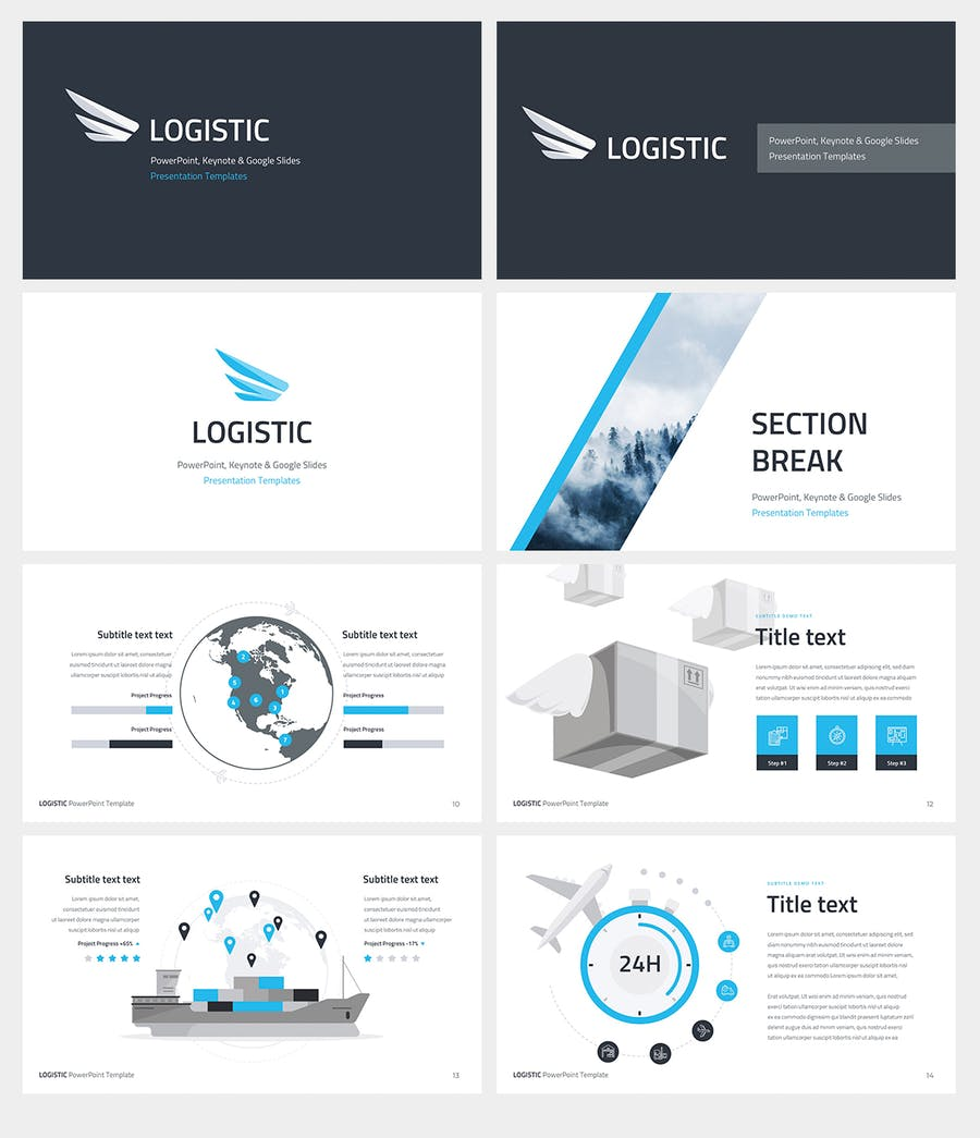Logistic PowerPoint Template by Site2max on Envato Elements