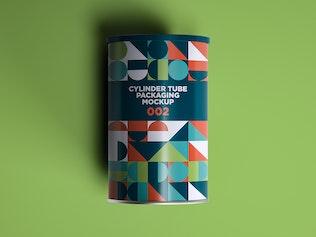 Thumbnail für Zylinderrohr Verpackung Mockup 002