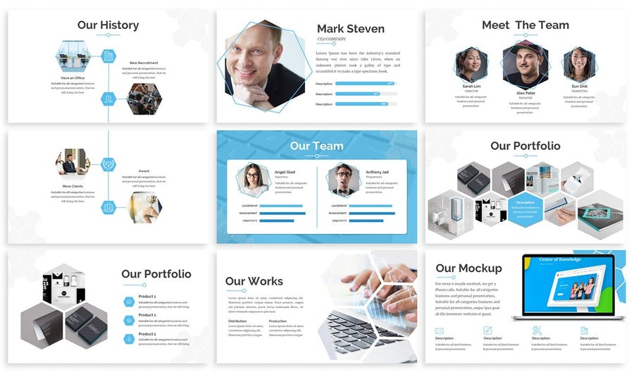 Hexsa - Networking Google Slides Template - product preview 2