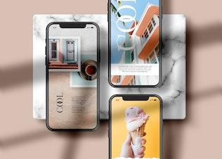 iPhone Bildschirm - Mockup