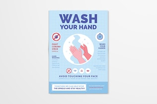 Wash Your Hand Poster / Flyer Campaign