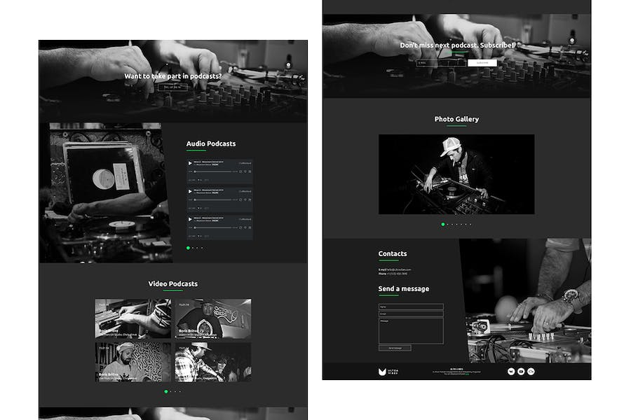 Ultra Vibes - DJ / Producer Podcast Site Template - product preview 2