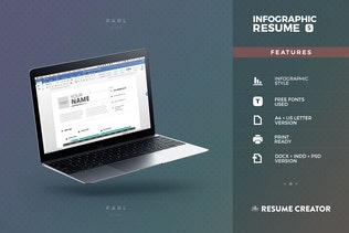 Thumbnail for Infographic Resume/Cv Volume 5
