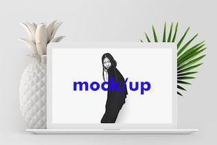 Minimalist MacBook Screen Showcase Mock-up PSD
