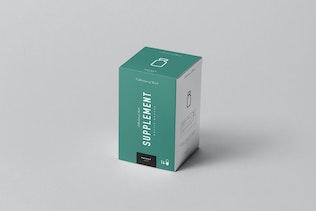 Supplement Jar & Box Mock-up 3