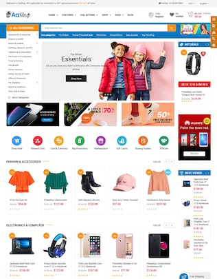 Thumbnail for AaShop - Sectioned Bootstrap 4 Shopify Theme