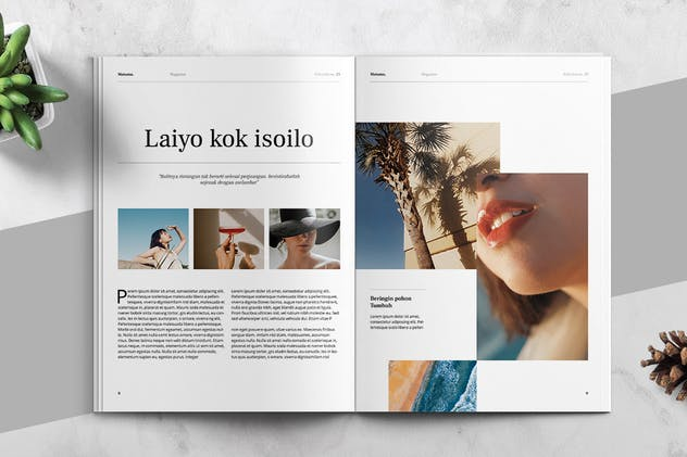 MATAMU - Clean and Minimalist Magazine Template - product preview 5