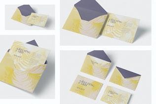 Thumbnail für Grußkarte Mockup mit Umschlag - A6 Größe
